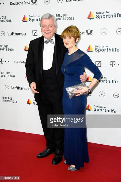 Volker Bouffier and his wife Ursula Bouffier attend the German Sports Gala 'Ball Des Sports' 2018 on February 3 2018 in Wiesbaden Germany