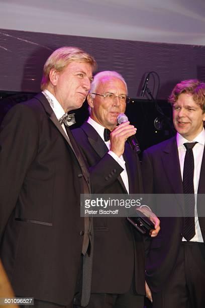 Volker Bouffier Franz Beckenbauer Michael Steinbrecher Gala 29 Deutscher Sportpresseball Alte Oper Frankfurt Hessen Deutschland Europa Bühne Auftritt...