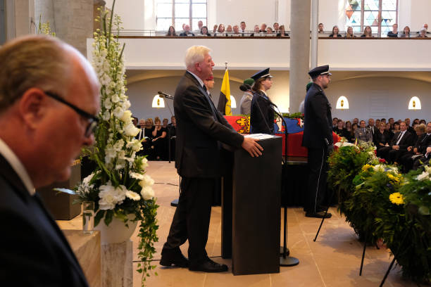 DEU: Memorial Service For Murdered Politician Walter Lübcke