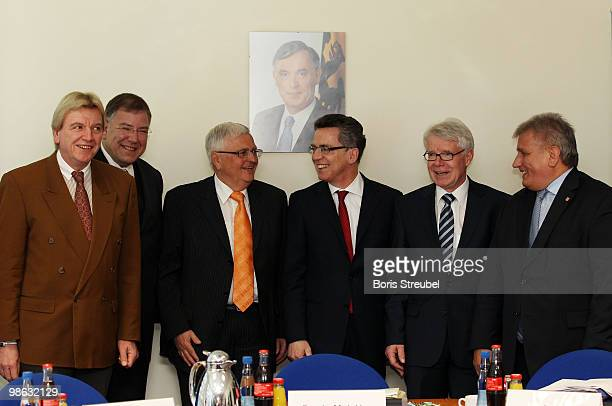 Volker Bouffier, Interior Minister of the German state of Hesse, Christoph Ahlhaus, Interior Minister of the German state of Hamburg and head of the...