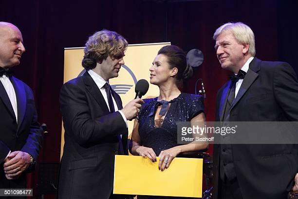 Volker Bouiffier Katarina Witt Michael Steinbrecher Name auf Wunsch Gala 30 Deutscher Sportpresseball Alte Oper Frankfurt Hessen Deutschland Europa...