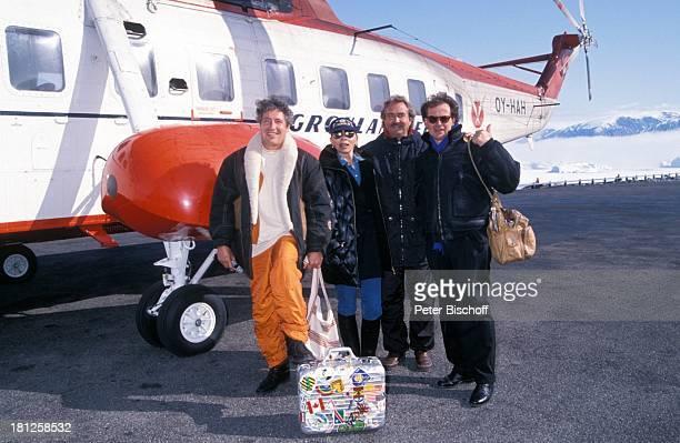Volker Brandt Monika Peitsch Horst Schaefer Gerd Boeckmann neben den Dreharbeiten zur PRO 7 Serie Glueckliche Reise Folge 21 Groenland Insel...