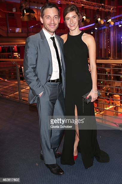 Volker Bruch and his girlfriend Miriam Stein during the Opening Party for the 65th Berlinale International Film Festival at Berlinale Palace on...