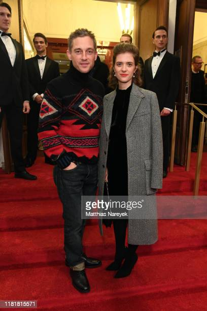 Volker Bruch and Liv Lisa Fries during the premiere of the HBO Documentary Very Ralph on November 11 2019 in Berlin Germany