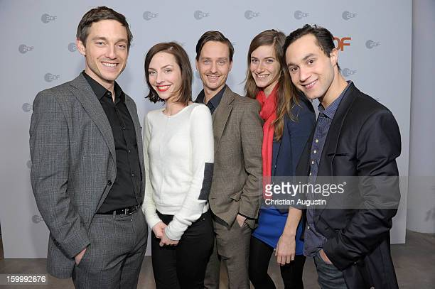 Volker Bruch Katharina Schuettler Tom Schilling Miriam Stein and Ludwig Trepte attend Photocall of TVProduction 'Unsere Muetter unsere Vaeter' at...