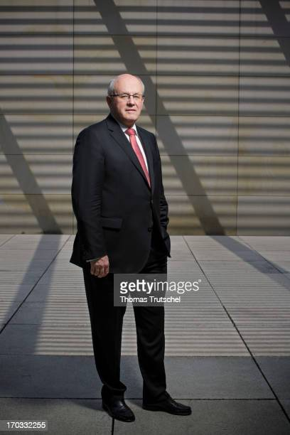 Volker Kauder Chairman of the CDU/CSU parliamentary group in the Bundestag poses during a Portrait Session on June 11 in Berlin Germany