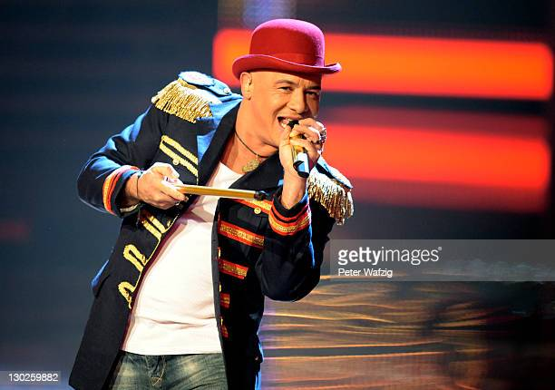 Volker Schlag performs on stage during 'The X Factor Live' TVShow on October 25 2011 in Cologne Germany