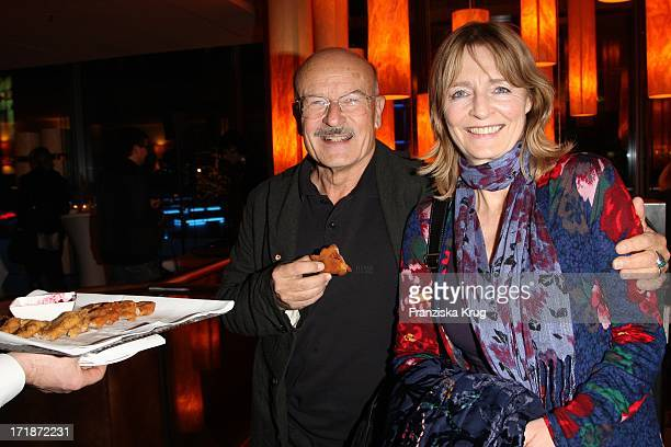 Volker Schlöndorff With wife Angelika at the Premiere Party In the film The Yellow Handkerchief In Josty the Sony Center in Berlin