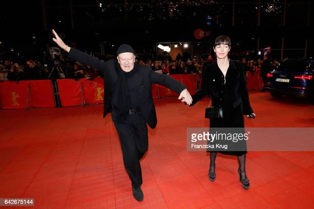 Volker Schloendorff and Angelika Schloendorff attend the closing ceremony of the 67th Berlinale International Film Festival at Berlinale Palace on...