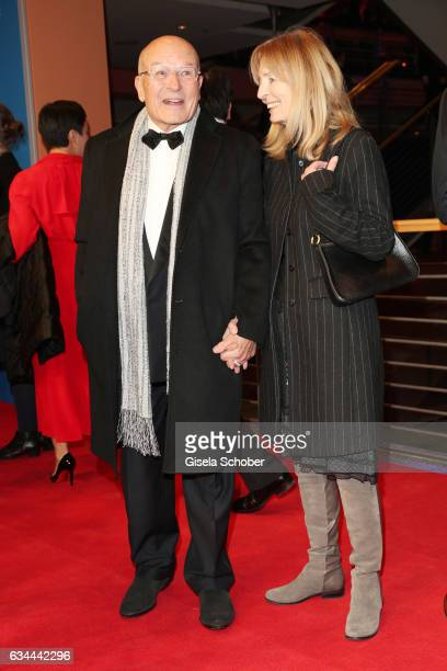 Volker Schloendorff and his wife Angelika attend the 'Django' premiere during the 67th Berlinale International Film Festival Berlin at Berlinale...