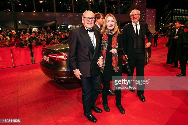 Volker Schloendorff and his wife Angelika Schloendorff attend the 'Nobody Wants the Night' premiere during the 65th Berlinale International Film...