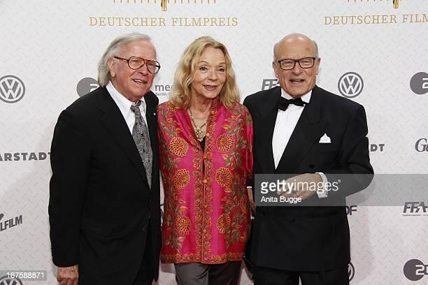 Volker Schloendorff his wife Angelika Schloendorff and guest attend the Lola German Film Award 2013 at Friedrichstadtpalast at FriedrichstadtPalast...