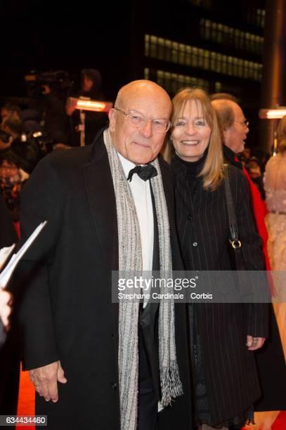 Volker Schlondorff and his wife Angelika Schlondorff attends the 'Django' premiere during the 67th Berlinale International Film Festival Berlin at...