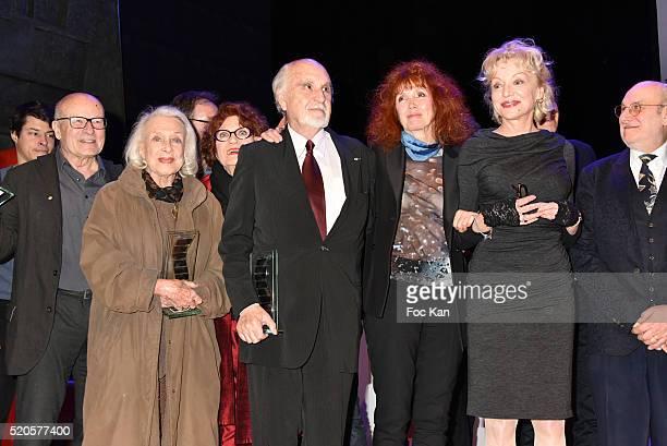 Volker Schlondorff Micheline Presle Andrea Ferreol Jean Louis Livi Sabine Azema Caroline Sihol and Frederic Vidal attend Henri Langlois 11th Award...