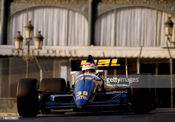 Volker Weidler of Germany drives the Rial Racing Rial ARC2 Ford Cosworth DFR 35 V8 during prequalifying for the Grand Prix of Monaco on 4th May 1989...