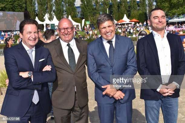 Volker Wulff JuanCarlos Capelli Lars Windhorst and guest during the Global Jumping at Longines Global Champions Tour at Sommergarten unter dem...