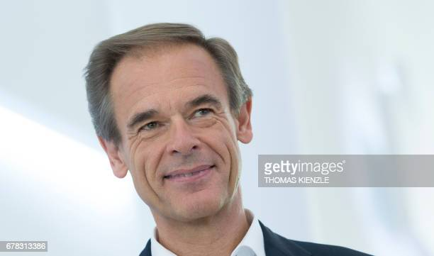 Volkmar Denner CEO of German technology concern Bosch poses prior to the annual press conference of German engineering and electronics company Bosch...