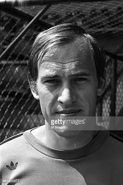 Volkmar Gross during the team presentation of FC Twente in 1975 in Enschede The Netherlands