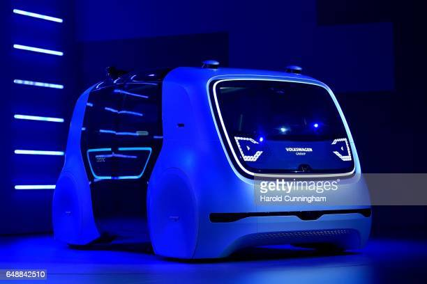 Volkswagen AG 'Cedric' selfdriving automobile is presented during the Volkswagen Group Shaping The Future / Create Innovation event ahead of the 87th...