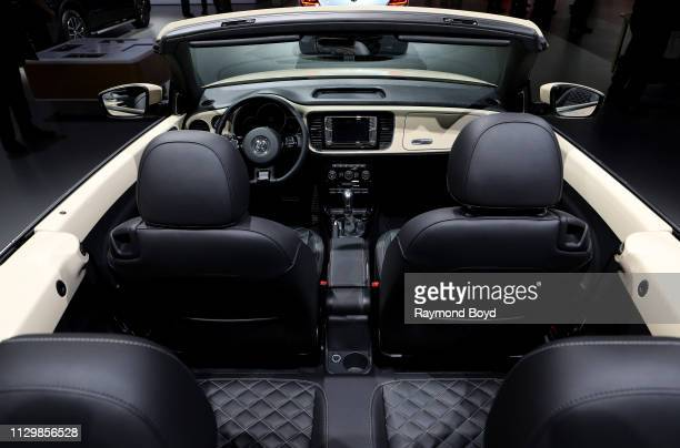 Volkswagen Beetle Convertible is on display at the 111th Annual Chicago Auto Show at McCormick Place in Chicago Illinois on February 7 2019