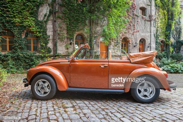 volkswagen beetle convertible - beetle stock pictures, royalty-free photos & images