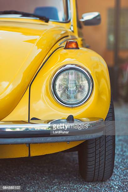 volkswagen beetle front view - beetle stock pictures, royalty-free photos & images