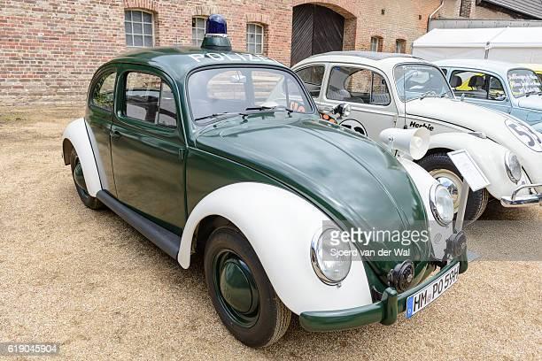 """volkswagen beetle or vw bug german police car - """"sjoerd van der wal"""" stockfoto's en -beelden"""