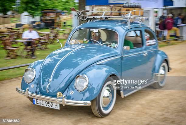 Volkswagen Beetle or VW Bug traveling in style