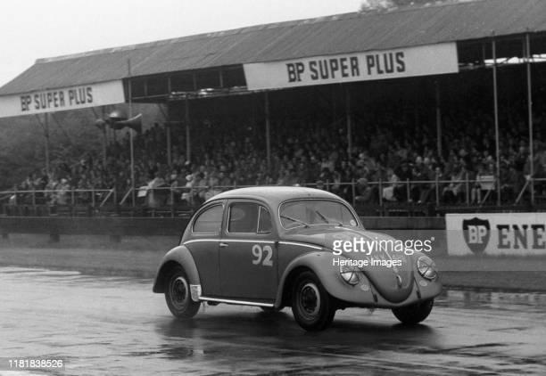 Volkswagen Beetle, R Vaughan, Goodwood Members Meeting 1959. Creator: Unknown.
