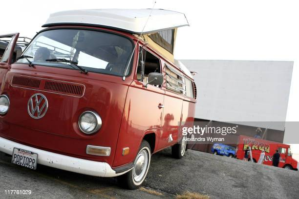 Volkswagen bus enthusiasts gather for a screening of Little Miss Sunshine July 25 2006 at Vineland DriveIn in City of Industry California