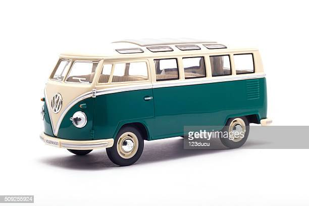 volkswagen camper isolated on white - volkswagen stock pictures, royalty-free photos & images