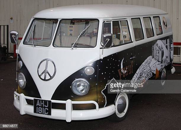 Volkswagen camper van used at the Yusuf Islam photocall to launch his 'Guess I'll Take My time Tour' which starts in Dublin on November 15th at...