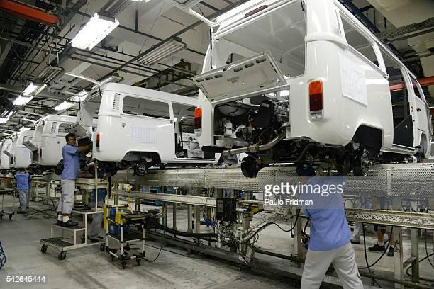 "Volkswagen Campervan ""Kombi"" assembly line at the Anchieta,s VW plant in Sao Bernardo do Campo, Brazil on Monday December 9th, 2013."