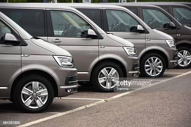 Volkswagen, die Autos in einer Reihe
