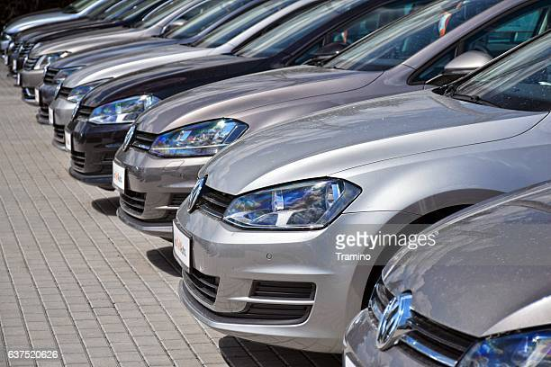 Volkswagen cars on the parking