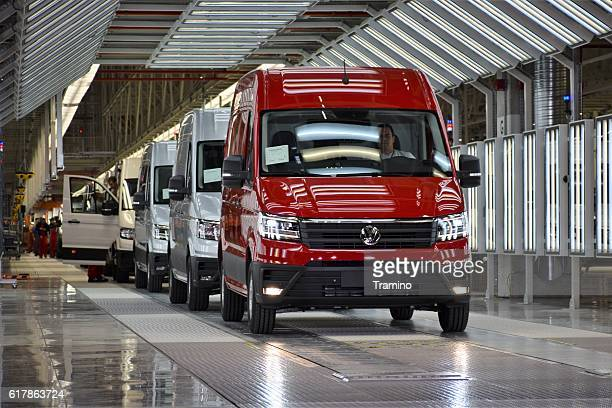 Volkswagen Crafter on the production line