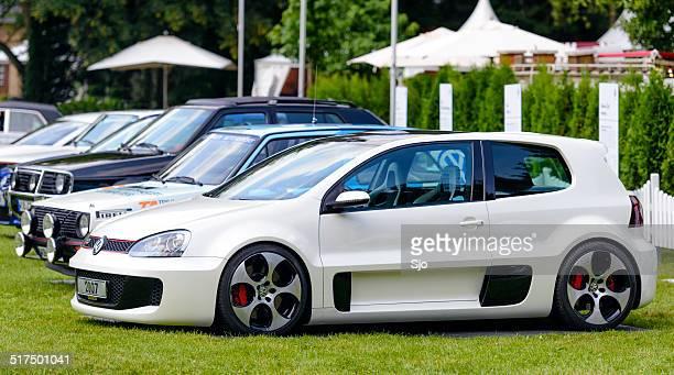 volkswagen golf gti w12 concept - volkswagen golf gti stock photos and pictures