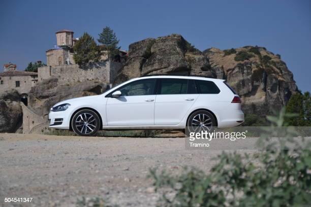 volkswagen golf variant no test drive - golf imagens e fotografias de stock
