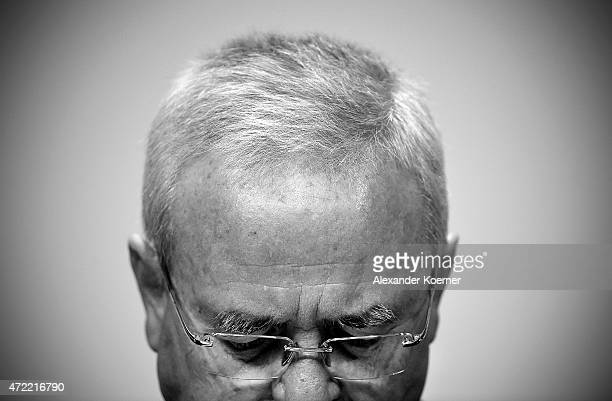 Volkswagen Group CEO Martin Winterkorn arrives for the Volkswagen annual general shareholders' meeting on May 5 2015 in Hanover Germany Winterkorn...