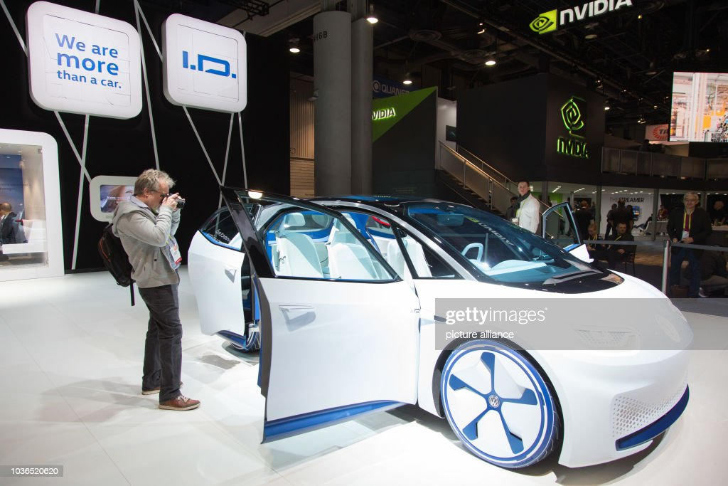 A Volkswagen ID Car At The Consumer Electronics Association - Vw car show las vegas