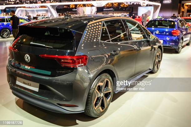 """Volkswagen ID.3 all electric hatchback car""""non display at Brussels Expo on January 9, 2020 in Brussels, Belgium. The ID.3 is the first model of the..."""