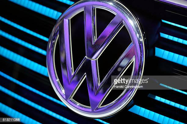 vw logo stock photos and pictures getty images. Black Bedroom Furniture Sets. Home Design Ideas