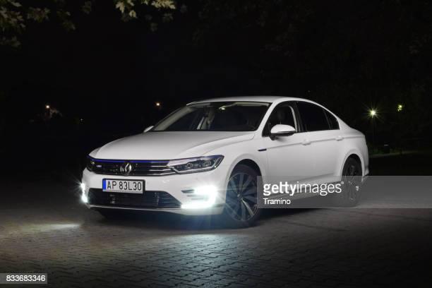 Volkswagen Passat GTE at night