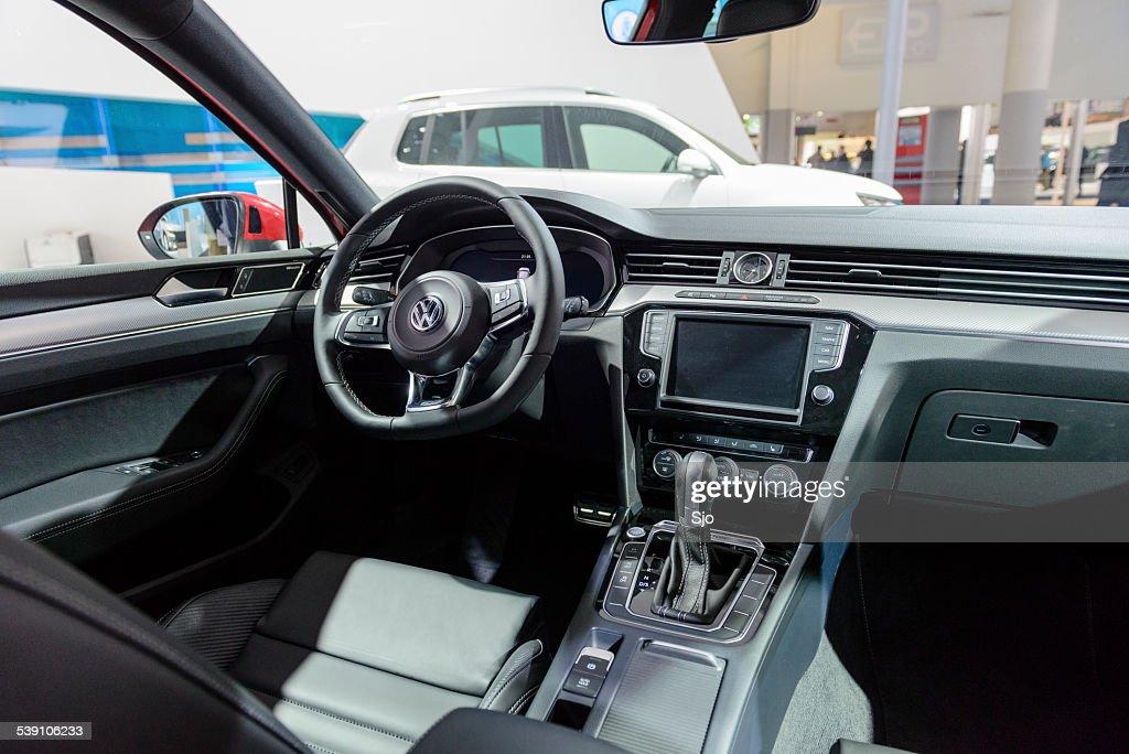 Volkswagen Passat Interior : Stock Photo