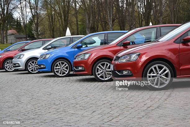 Volkswagen Polo in a row