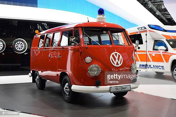 Volkswagen T1 in fireguard version on the motor show