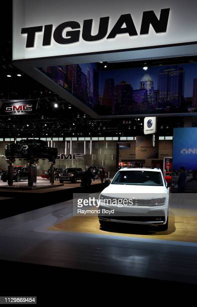 Volkswagen Tiguan is on display at the 111th Annual Chicago Auto Show at McCormick Place in Chicago Illinois on February 7 2019