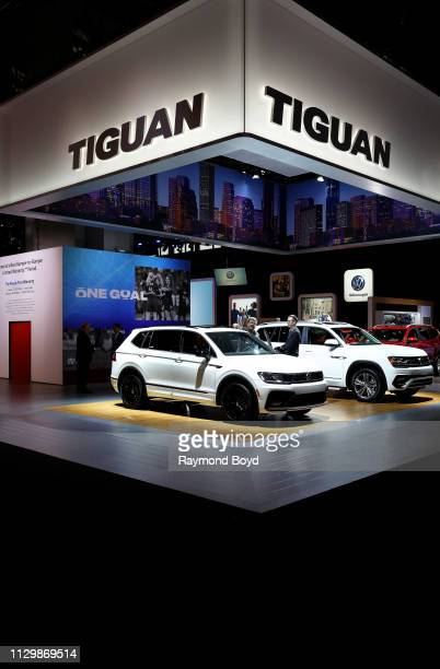 Volkswagen Tiguan is on display at the 111th Annual Chicago Auto Show at McCormick Place in Chicago, Illinois on February 7, 2019.