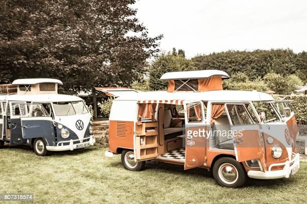Volkswagen Transporter T1 ausgelassene in einem park