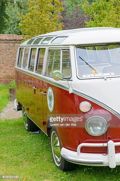 """volkswagen transporter t1 classic panel van - """"sjoerd van der wal"""" stock pictures, royalty-free photos & images"""